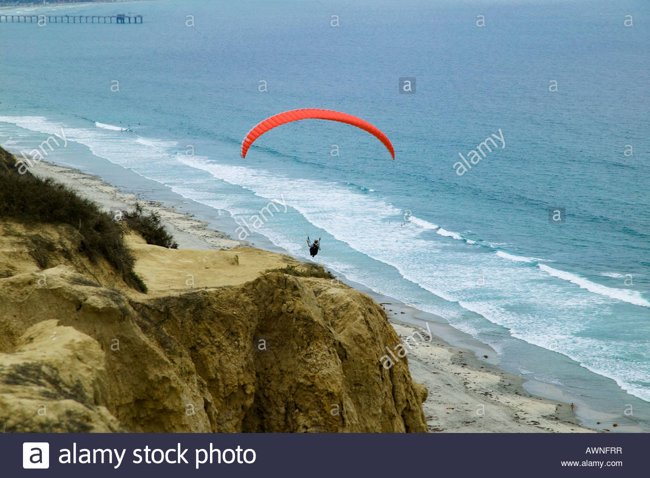 University of California at San Diego San Diego, Paraglider and Blacks Beach San Diego, Glider Park, California ...