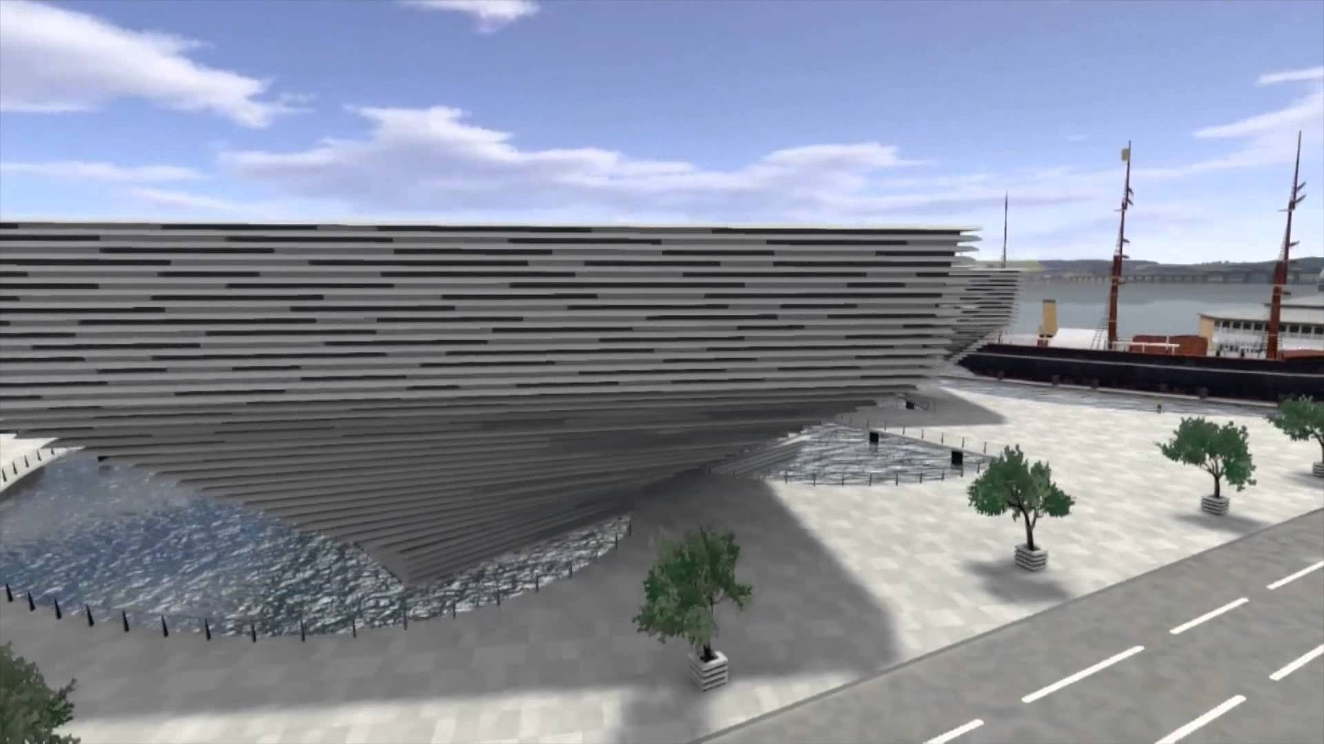 V&A Museum of Design Dundee, Construction work starts on V&A Museum of Design Dundee - YouTube