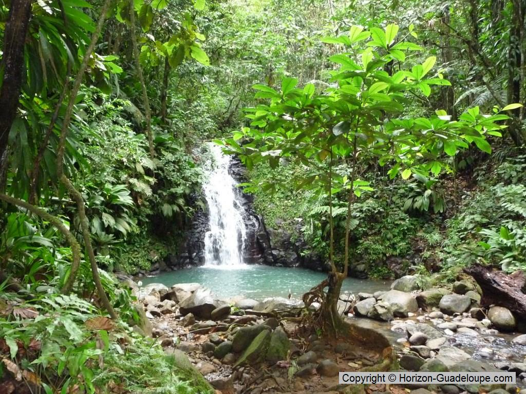 Valombreuse Floral Park Basse-Terre Island, Valombreuse waterfall