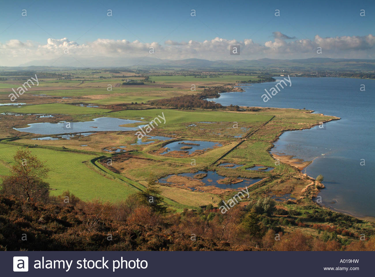 Vane Farm Nature Reserve Fife and Angus, The RSPB Vane Farm Nature Reserve and Loch Leven from the slopes ...