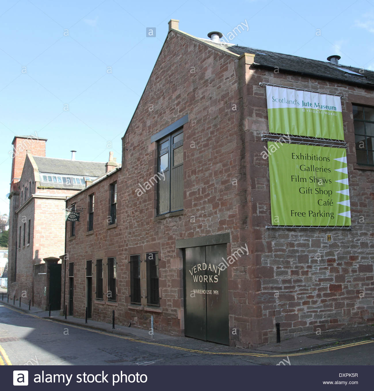 Verdant Works Dundee, exterior of Verdant Works Jute Mill Museum Dundee Scotland March ...