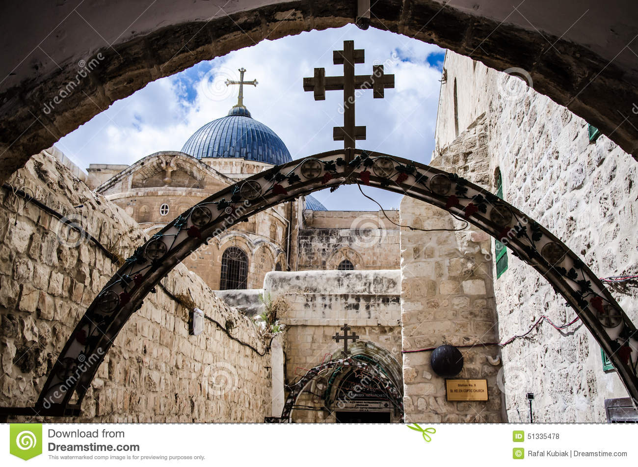 Via Dolorosa Jerusalem, Via Dolorosa, Jerusalem Stock Photo - Image: 51335478