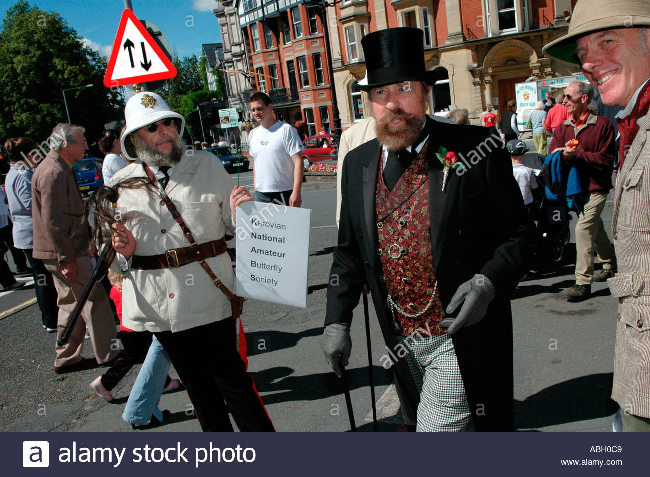 Victorian Festival Mid-Wales, Men in period costume at Llandrindod Wells Victorian Festival ...