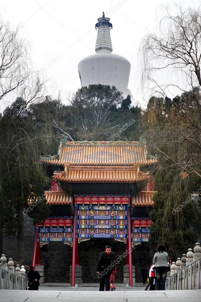 Wénchāng Gallery Běijīng, The Temple of the white Pagoda in Beijing China – Stock Editorial ...