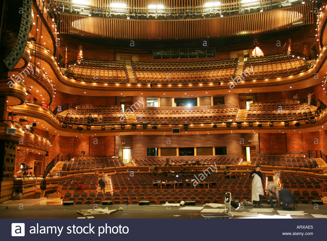 Wales Millennium Centre Cardiff, Auditorium From Stage Wales Millennium Centre Cardiff Bay South ...