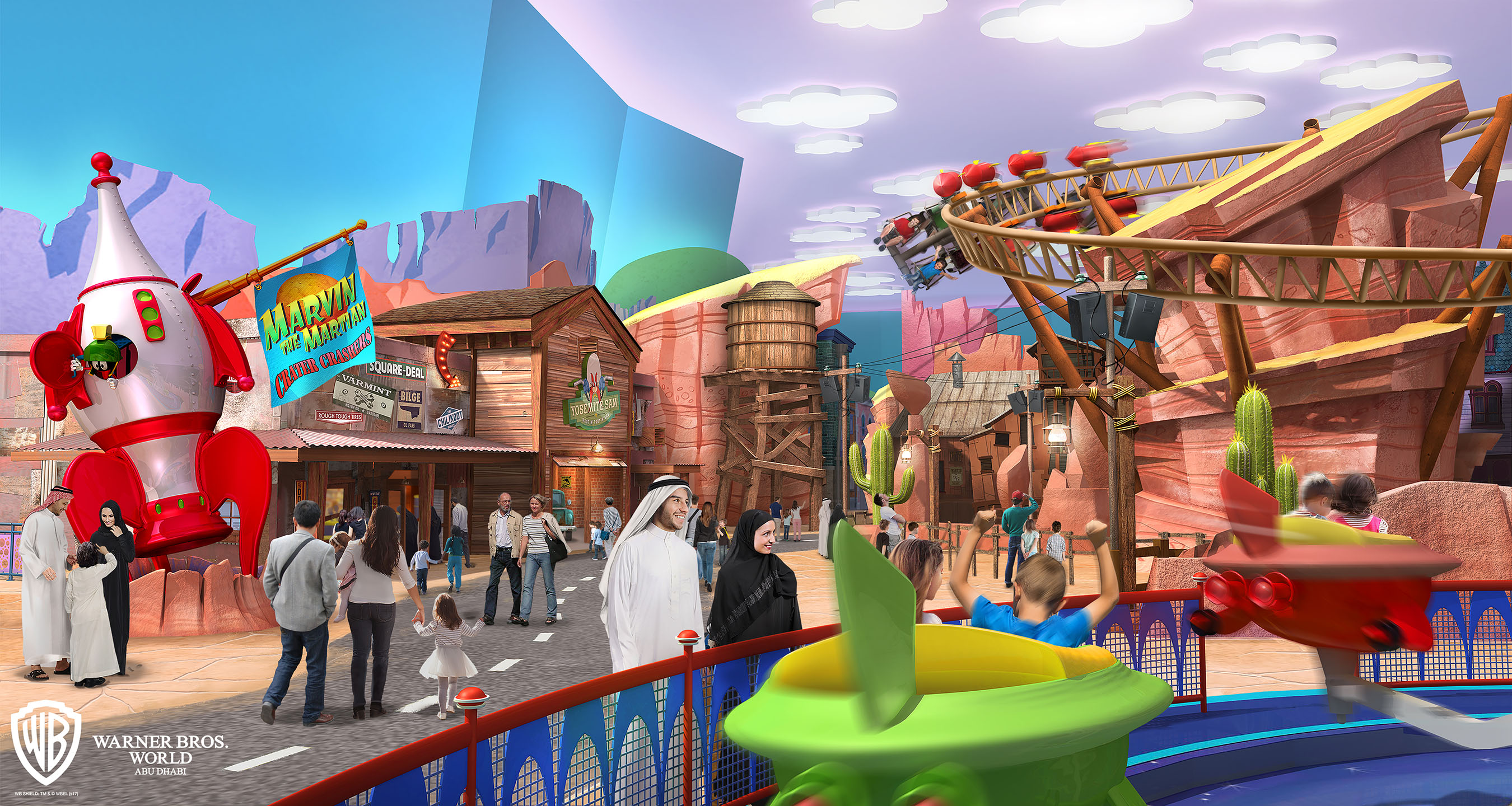 Warner Bros World Abu Dhabi, Miral Reveals First-Glimpse Of Warner Bros. World Abu Dhabi Themed ...