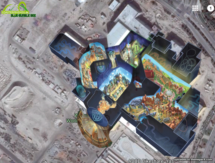 Warner Bros World Abu Dhabi, Warner Bros World Abu Dhabi construction updates