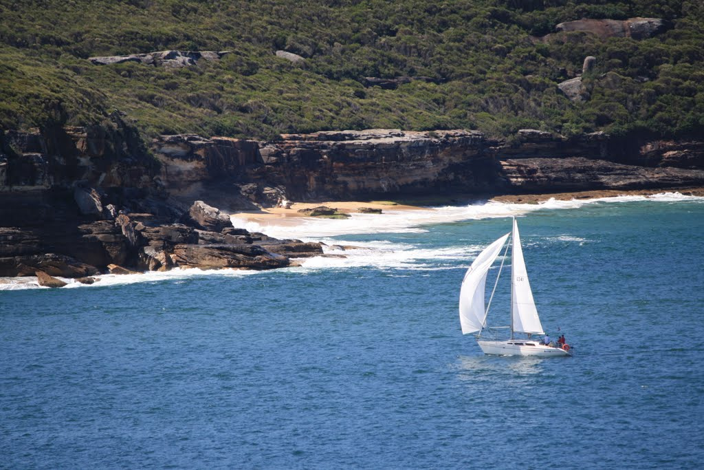 Washaway Beach Sydney, Washaway Beach, Sydney Harbour National Park from Middle Head ...