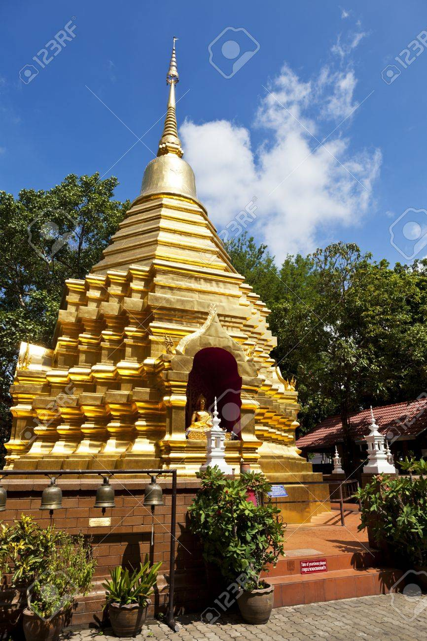 Wat Phan On Chiang Mai, Wat Phan On Temple In Chiang Mai, Thailand. Stock Photo, Picture ...