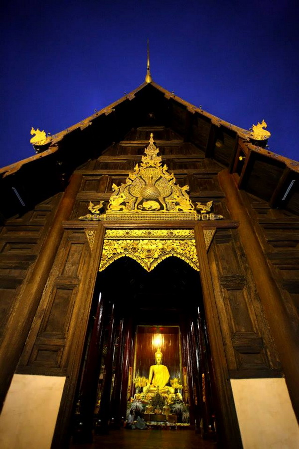Wat Phan Tong Chiang Mai, Wat Phan Tao is one of the attraction with the goodly of peaceful ...