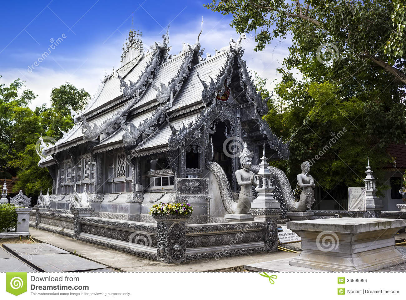 Wat Srisuphan Chiang Mai, Silver Monastery In Wat Srisuphan Royalty Free Stock Image - Image ...