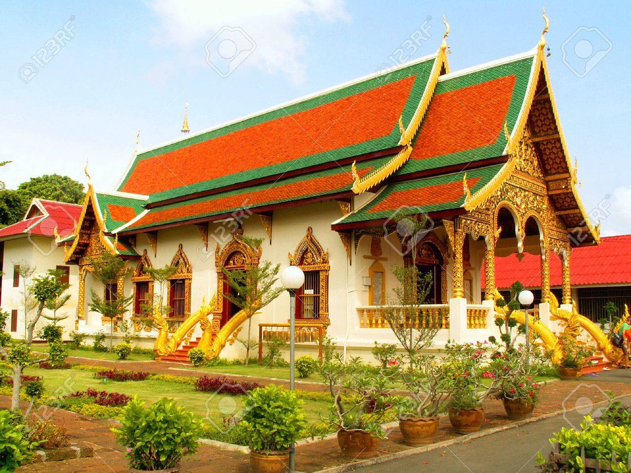 Wat Upakhut Chiang Mai, Wat Chiang Man In Thai City Of Chiang Mai Stock Photo, Picture And ...