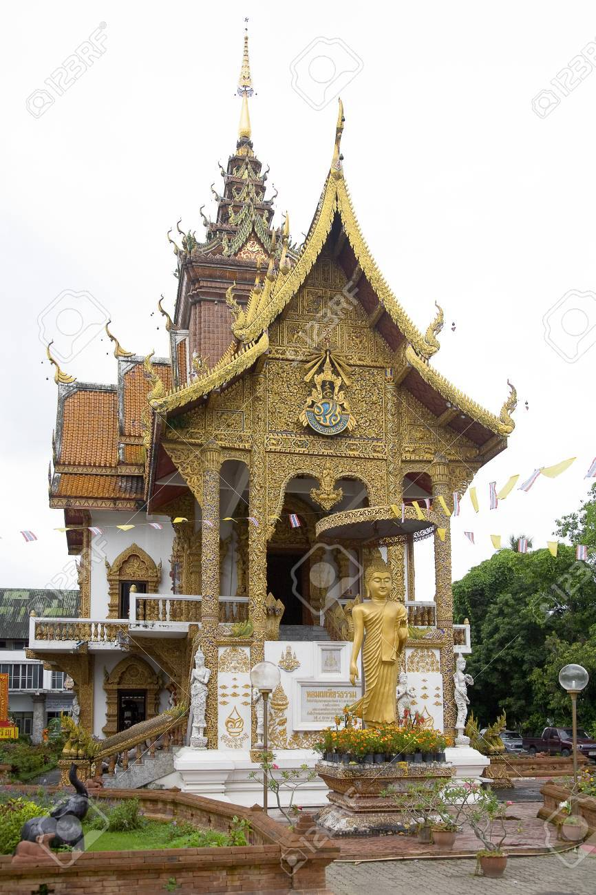 Wat Upakhut Chiang Mai, Wat Upakhut, Chiang Mai, Thailand Stock Photo, Picture And Royalty ...