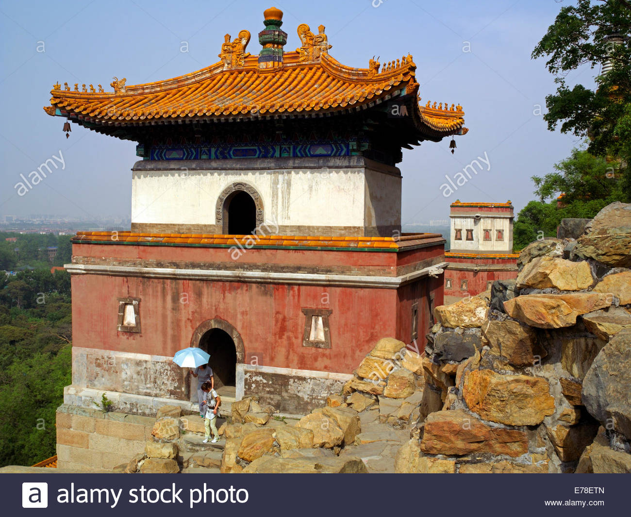 Water Cube Běijīng, Sumeru Temple on Longevity Hill with distant views of Beijing City ...