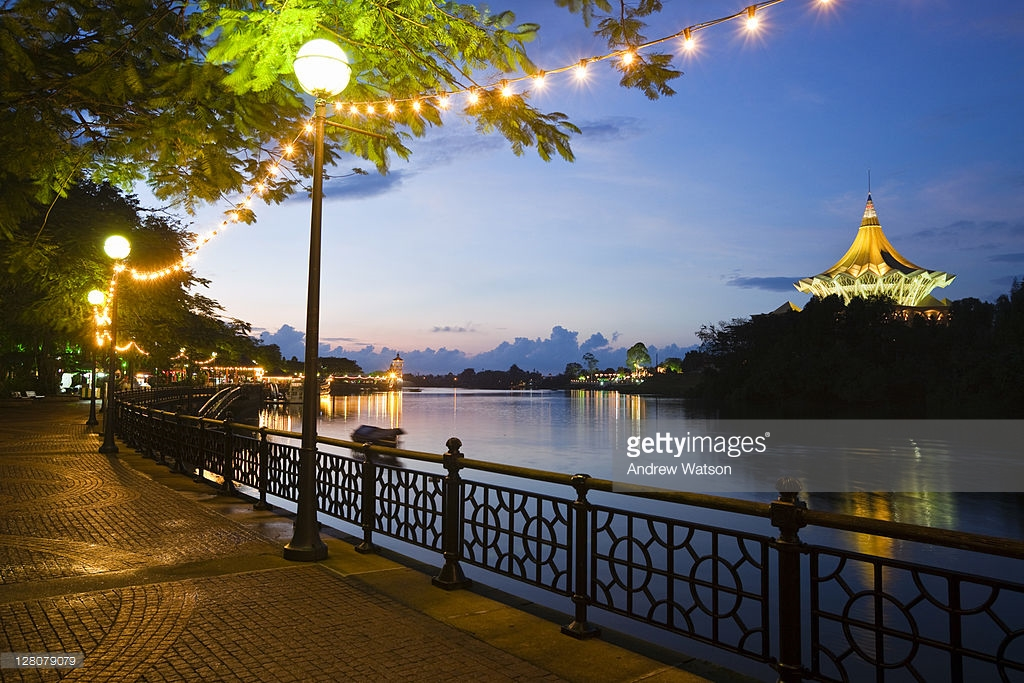 Waterfront Promenade Kuching, The Waterfront Promenade With The State Legislative Assebly ...