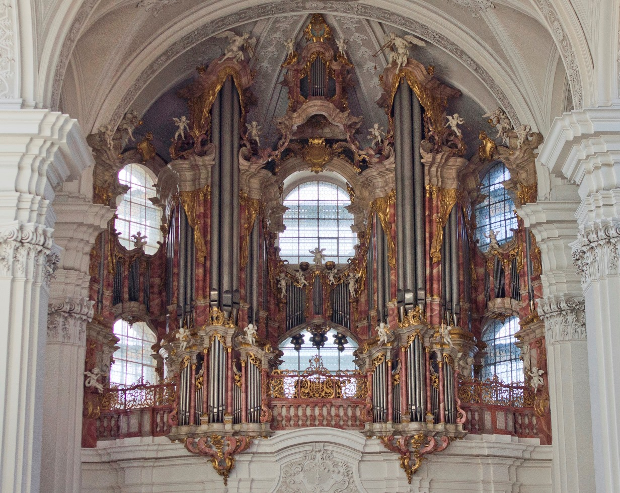 Weingarten Basilica The Bodensee, This is just part of the organ of the Weingarten Basilika. It has ...