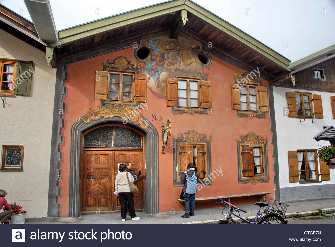 Werdenfels Museum The Bavarian Alps, Violin Museum in Mittenwald, Bavaria, Germany Stock Photo, Royalty ...