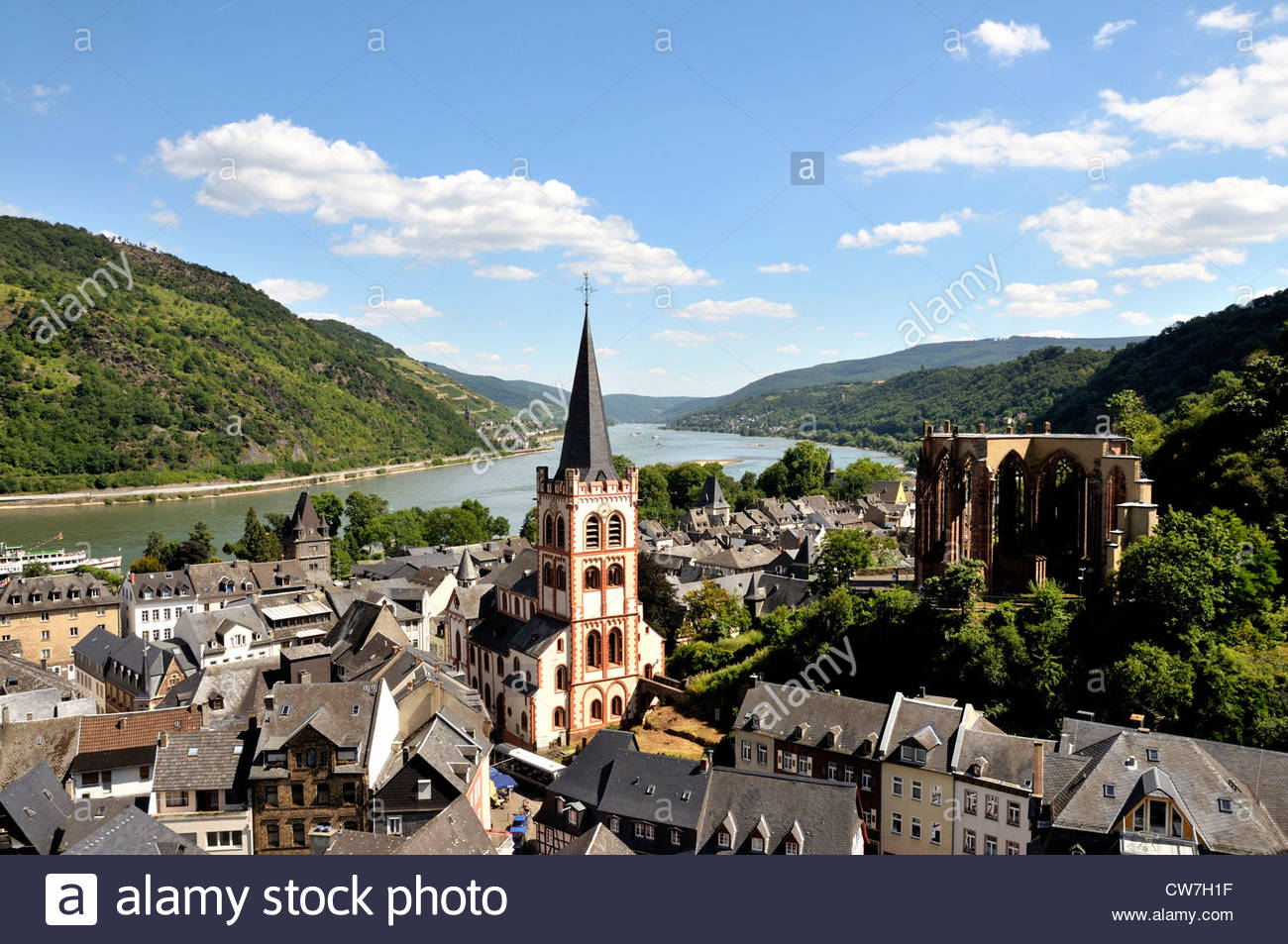 Wernerkapelle The Rhineland, view on town with Saint Peter s Church and ruin of Wernerkapelle ...