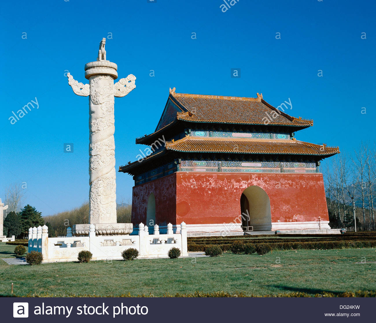 West Palace Gate Běijīng, Tombs Of The Thirteen Ming Emperors. Beijing. China Stock Photo ...