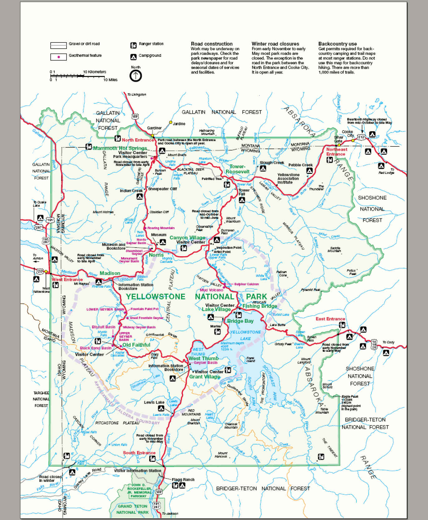 West Thumb Information Center Yellowstone National Park, Yellowstone National Park Map Travel tips http://airplane-discount ...