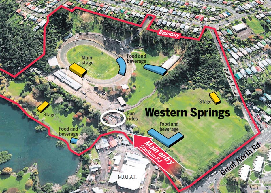Western Springs Auckland, Big Day Out NZ Locks In 5-Year Deal With Western Springs Stadium ...