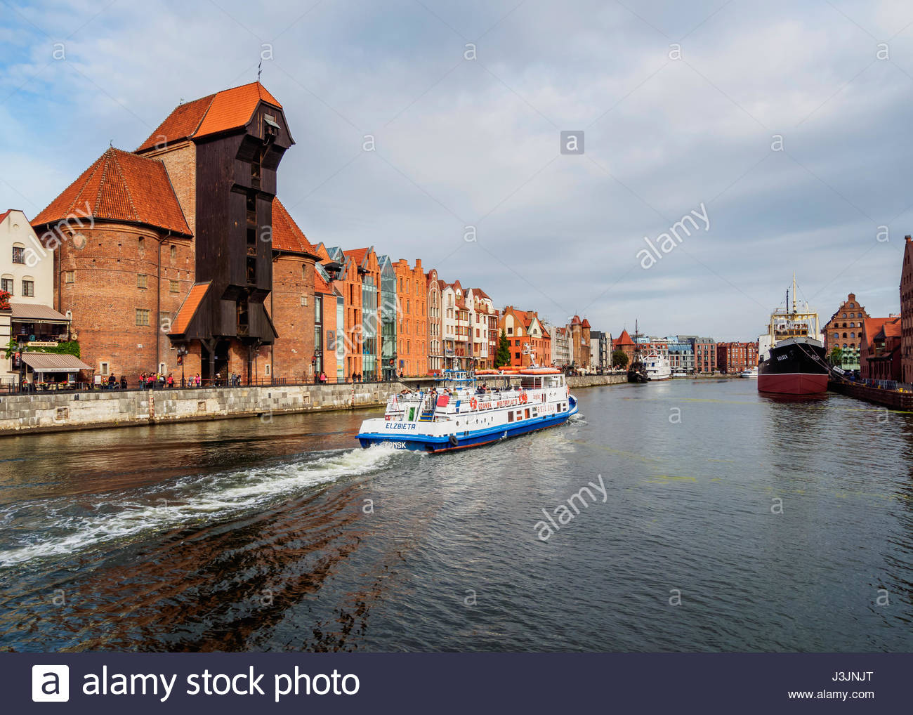 Brama Wyżynna The Baltic Coast and Pomerania, Poland, Pomeranian Voivodeship, Gdansk, Old Town, Motlawa River ...