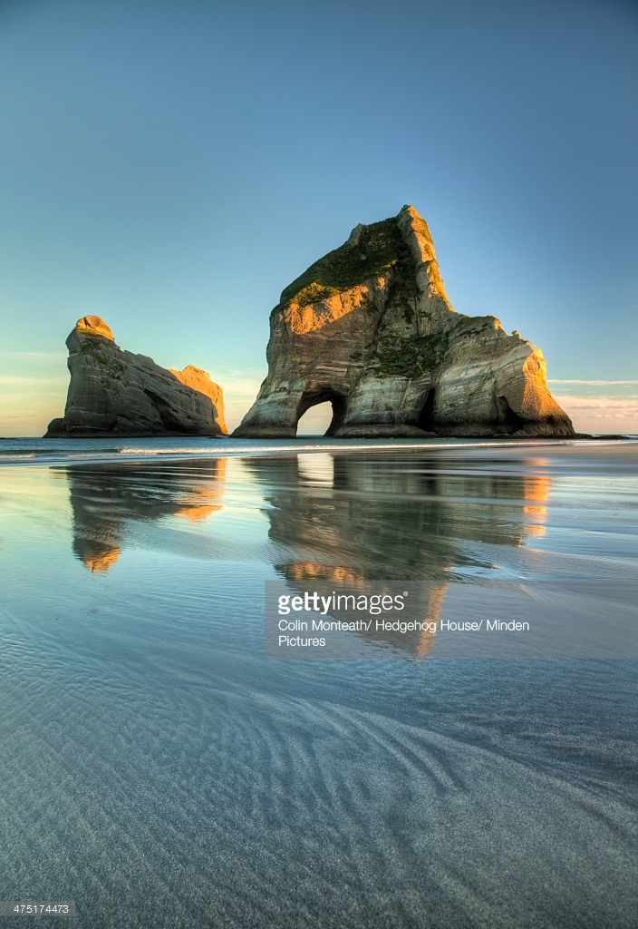 Wharariki Beach Collingwood & Around, Archway Islands At Sunrise Wharariki Beach Near Collingwood Golden ...