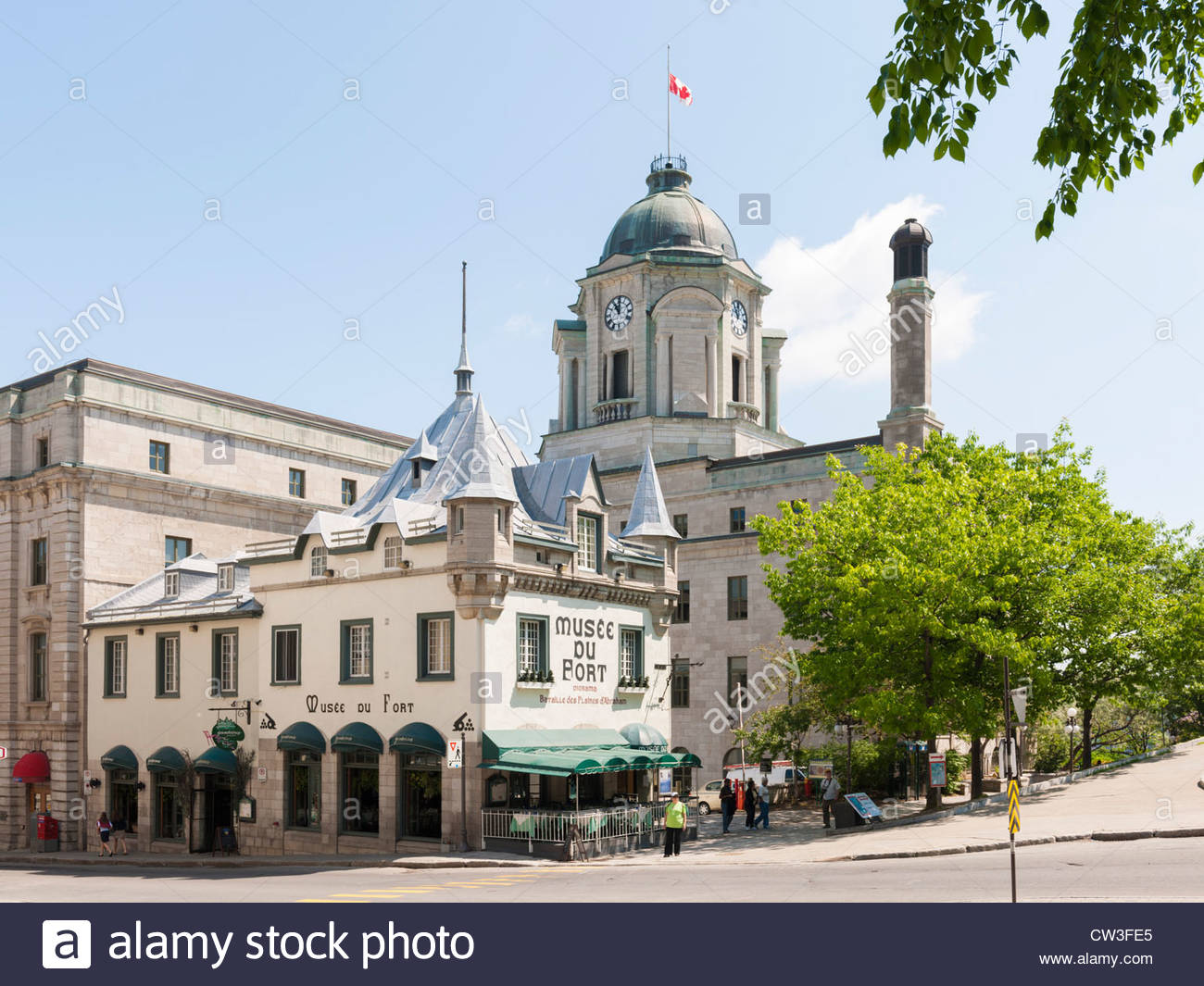 Wolfe Monument Quebec City, Musée du Fort, Quebec City Stock Photo, Royalty Free Image ...