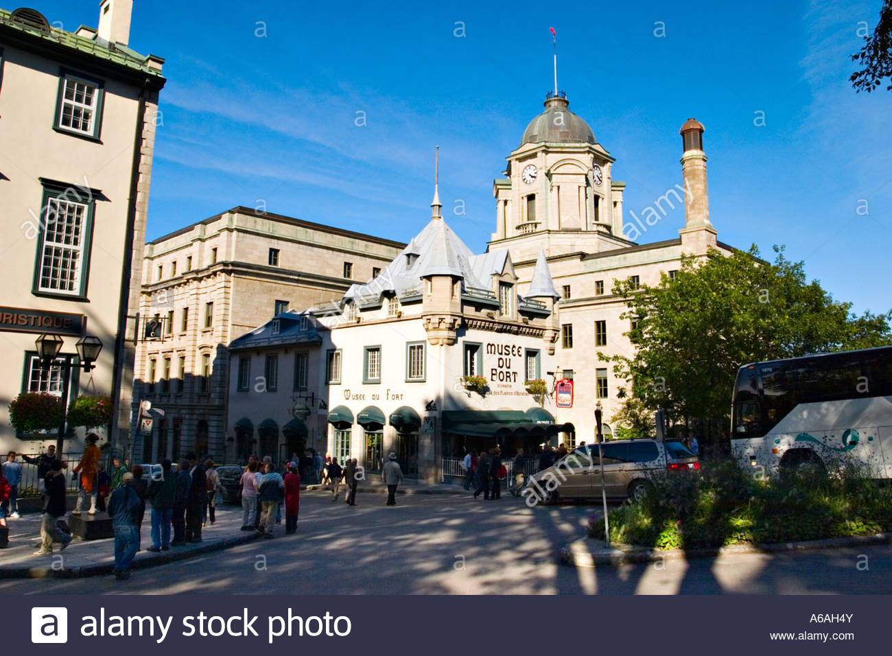 Wolfe Monument Quebec City, Fort Museum (Musee du Fort), Quebec City, Quebec, Canada Stock ...