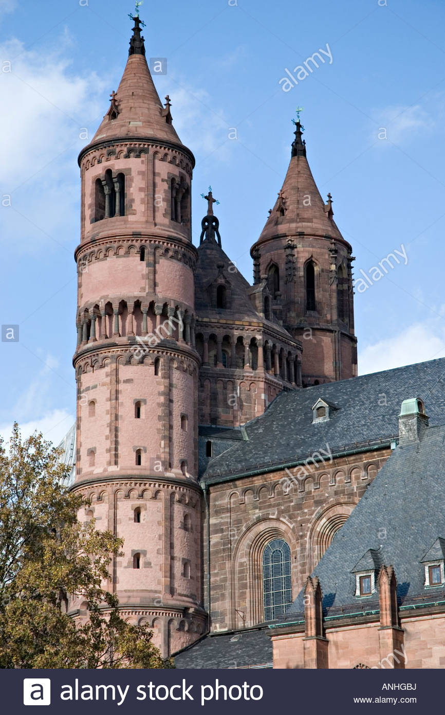 Wormser Dom St. Peter The Pfalz and Rhine Terrace, Worms Dom St Peter Stock Photos & Worms Dom St Peter Stock Images ...