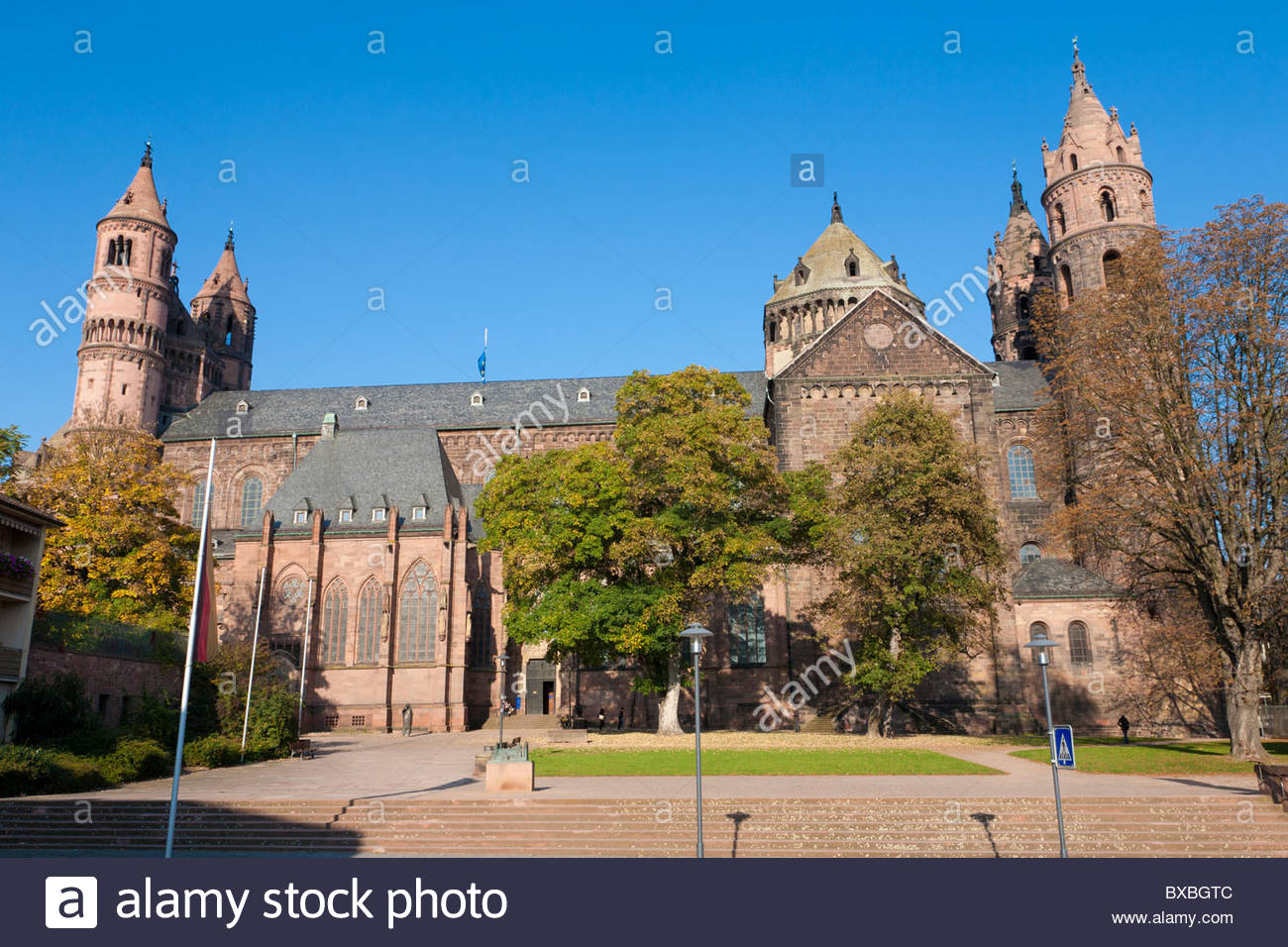Wormser Dom St. Peter The Pfalz and Rhine Terrace, CATHEDRAL ST. PETER, KAISERDOM, DOM, WORMS, RHINELAND-PALATINATE ...