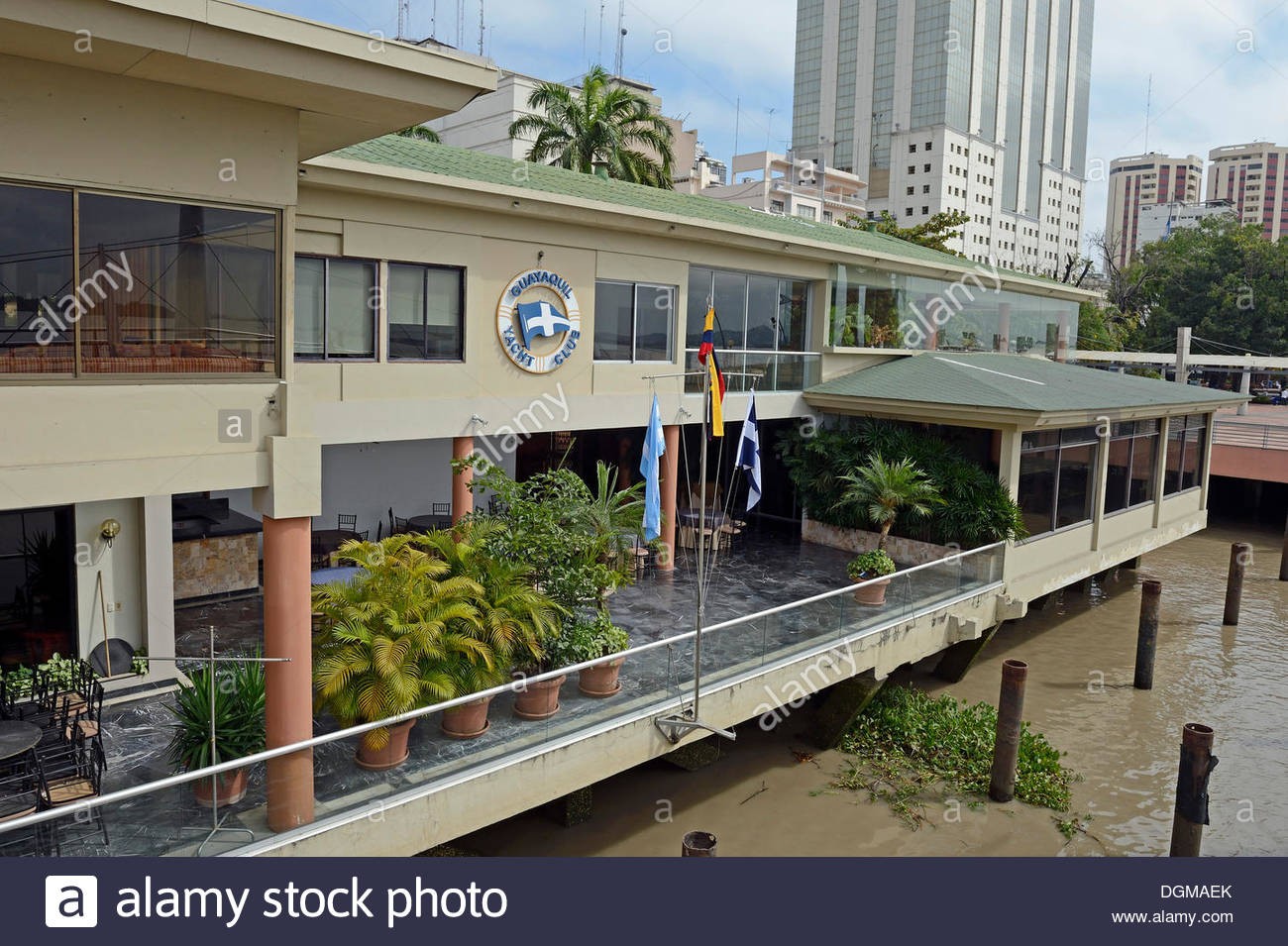 Yacht Club Guayaquil, Yacht Club of Guayaquil on the waterfront promenade of Malecon ...