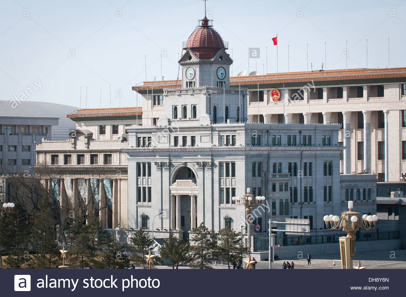Yuling Beijing, China Numismatic Museum and old China Mainland Bank building with ...