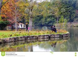 Apollon Smintheion Biga Peninsula | Ataturk Arboretum. Autumn Trees Around Lake. Editorial Stock Photo ...