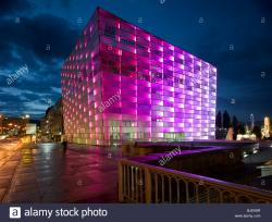 Ars Electronica Center Linz   Ars Electronica Center at night, Linz, Austria Stock Photo ...