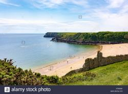 Barafundle Bay Stackpole (Stagbwll) | Barafundle Bay Beach, Stackpole, Wales, UK Stock Photo, Royalty ...