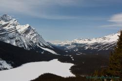 Banff Park Museum Banff Town   Ski Or Snowshoe Peyto Lake Lookout Or Bow Summit In Winter ...