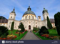 Benedictine monastery The Bavarian Alps | Benedictine Monastery Ettal, Bavaria, Germany / monastery church ...