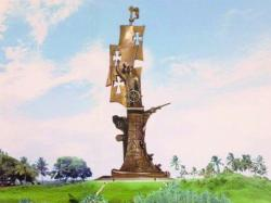 Birth of the New World Statue Arecibo | Rejected Columbus statue finds home - Everything Cool. And More...