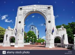 Bridge of Remembrance and Triumphal Arch Christchurch and Canterbury | Bridge of Remembrance, Oxford Terrace, Christchurch, Canterbury ...