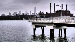 Brighton Beach New York City | A Viewpoint from the Piers of WNYC Transmitter Park - YouTube