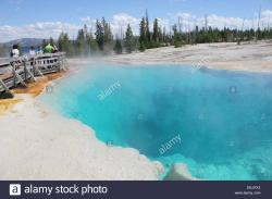 Brink of the Lower Falls Yellowstone National Park   Black Pool in West Thumb Geyser Basin, Yellowstone National Park ...