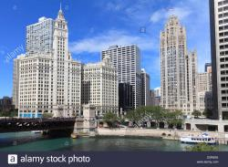 Busy Beaver Button Museum Chicago | The Wrigley Building and Tribune Tower, across the Chicago River ...