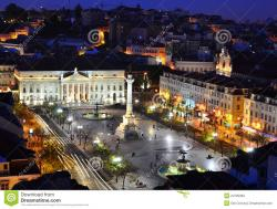 Casa dos Bicos Lisbon   Rossio Square In The Night, Lisbon Stock Photography - Image: 24795982