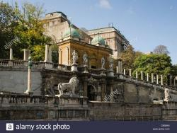 Castle Garden Palace Budapest | Faded grandeur of the Castle Garden Bazaar gateway at the foot of ...