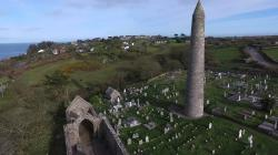 Cathedral of St. Declan and Round Tower The Southeast | Ardmore Round Tower & St Declan's Church - YouTube