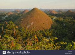 Chocolate Hills Main Viewpoint Chocolate Hills   Chocolate Hills on Bohol in sunset light, from the main viewpoint ...