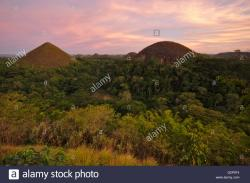 Chocolate Hills Main Viewpoint Chocolate Hills | Chocolate Hills on Bohol in sunset light, from the main viewpoint ...