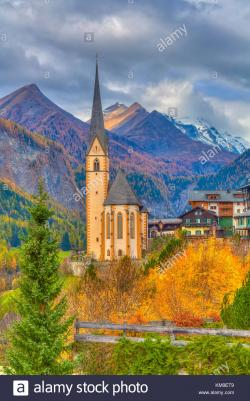 Church of St. Vincent Eastern Alps | Church Of St Vincent Stock Photos & Church Of St Vincent Stock ...