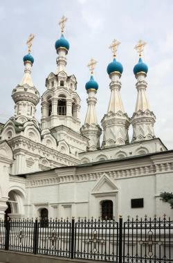 Church of the Nativity of the Virgin in Putinki Moscow   Nativity Church At Putinki,Moscow Stock Image - Image: 26969753